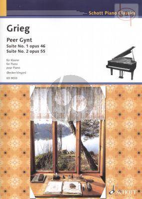 Peer Gynt Suite 1 - 2 (Opus 46 und 55) Klavier