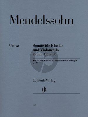 Mendelssohn Sonate D-dur Op.58 (Henle-Urtext)