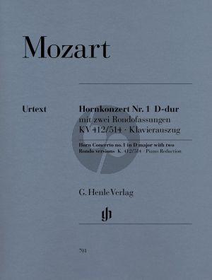 Mozart Konzert Nr.1 D-dur KV 412 / 514 + 2 Rondofassungen (Horn D/F) (Henle-Urtext)