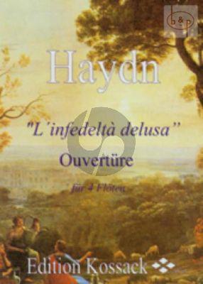 L'Infedelta delusa Ouverture (4 Flutes) (Score/Parts)