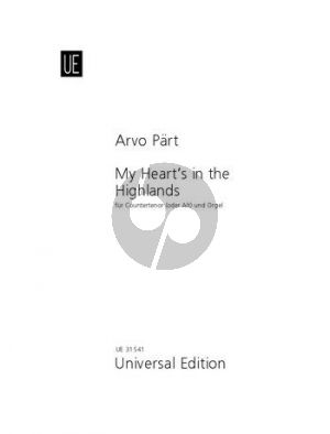 Part My Heart's in the Highlands Voice and Organ (Countertenor[Alto])