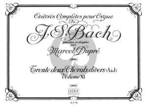 Bach Oeuvres d'Orgue Vol.11 20 Chorals Divers (Marcel Dupre)