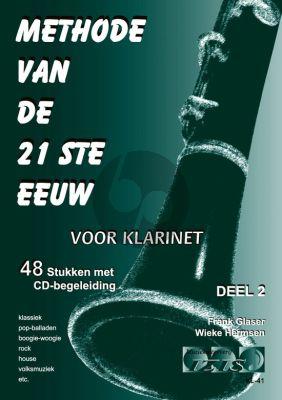 Glaser-Hermsen Methode van de 21ste Eeuw Vol.2 Klarinet (Bk-Cd)