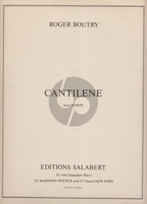 Boutry Cantilene pour Harpe