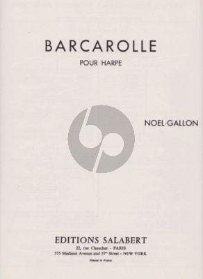 Noel-Gallon Barcarolle pour Harpe