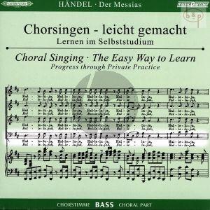 Messias HWV 56 (CD Bass Chorstimme) (2 CD's) (Chorsingen leicht gemacht)