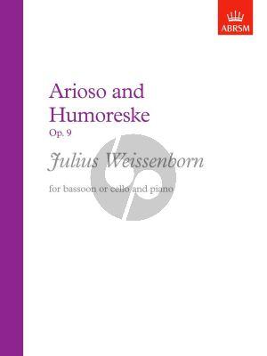 Weissenborn Arioso & Humoresque Op.9 Bassoon or Cello and Piano