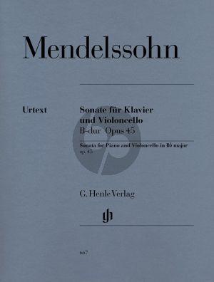 Mendelssohn Sonate B-dur Op.45 (Henle-Urtext)