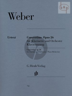 Concertino Op.26 Clarinet and Orchestra (piano red.)