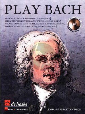 Play Bach for Trombone (TC/BC) Bk-Cd (arr. Wim Stalman) (grade 4 - 5)