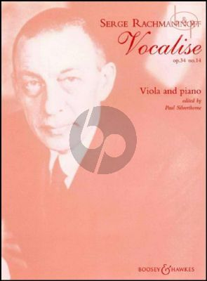 Vocalise Op.34 Nr.14 for Viola and Piano