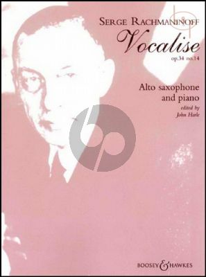 Vocalise Op.34 No.14 Alto Saxophone and Piano