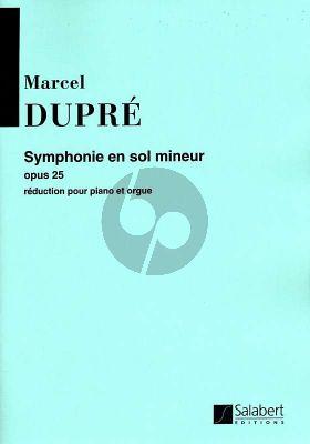 Dupre Symphonie g-mineur Opus 25 Orgue et Orchestre (reduction Orgue et Piano)