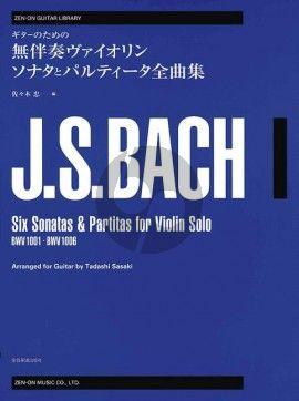 Bach 6 Sonatas & Partitas BWV 1001 - 1006 for Guitar (Tadashi Sasaki)