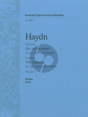 Haydn Die Jahreszeiten (Seasons) Hob XXI:3 Oratorium (Soli Gemischtes Chor und Orchester) (Orchesterpartitur)