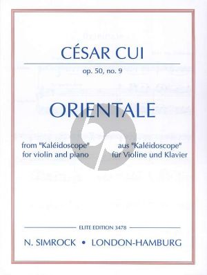 Cui Orientale Op.50 No.9 Violin-Piano (from Kaleidoscope)