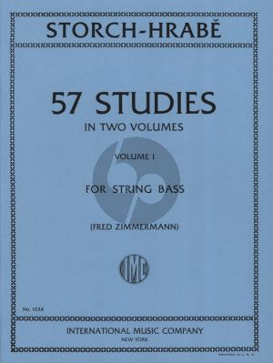Storch-Hrabe 57 Studies Vol.1 for String Bass (edited by Fred Zimmermann)