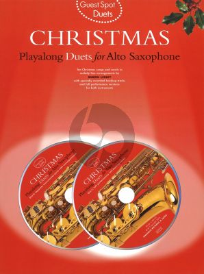 Guest Spot Christmas Duets for Alto Sax (Bk- 2 Cd's)