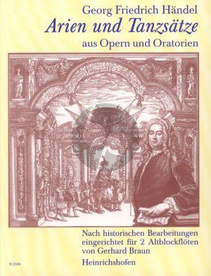 Handel Arien & Tanzsatze aus Opern & Oratorien 2 Altblockflöten (Gerhard Braun)