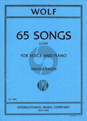 Wolf 65 Songs Low (german/english) (Sergius Kagen)