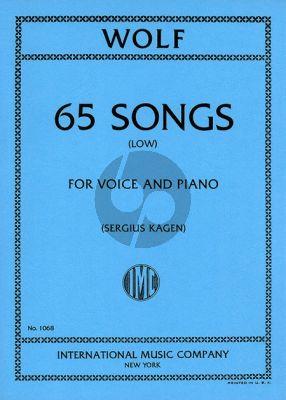 Wolf 65 Songs Low (german/english) (Sergius Kagen)
