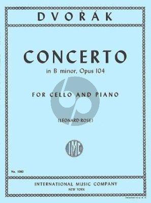 Dvorak Concerto B-minor Op.104 Cello and Piano (edited by Leonard Rose)