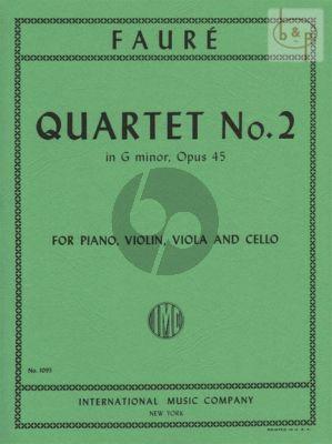 Quartet No.2 G-minor Op.45 (Vi.-Va.-Vc-Piano)