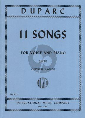 Duparc 11 Songs High (Sergius Kagen)