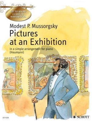 Mussorgsky Pictures at an Exhibition Piano (easy arr. by Heumann)