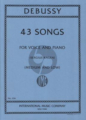Debussy 43 Songs Medium-Low (edited by Sergius Kagen)