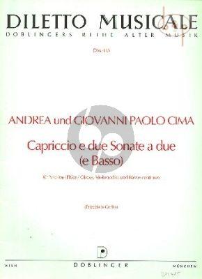Capriccio e due Sonate a (2 Vi.(Fl./Ob.)-Vc.- Bc)