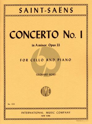 Saint-Saens Concerto No.1 a-minor Op.33 Cello and Piano (edited by Leonard Rose)