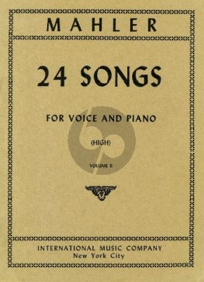 Mahler 24 Songs vol.2 (High Voice)