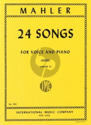 Mahler 24 Songs vol.3 (High Voice)