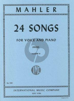 Mahler 24 Songs vol.4 (High Voice)