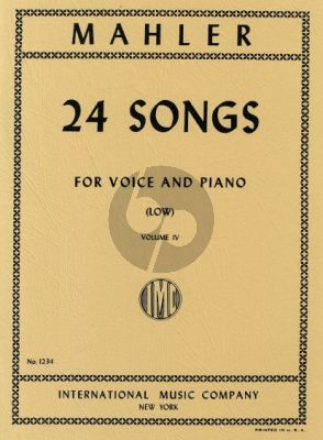 Mahler 24 Songs vol.4 (Low Voice)