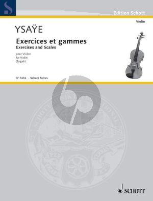 Ysaye Exercises et Gammes pour Violon (Szigeti)