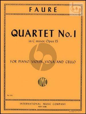 Quartet No.1 Op.15 C-minor (Vi.-Va.-Vc.-Piano)