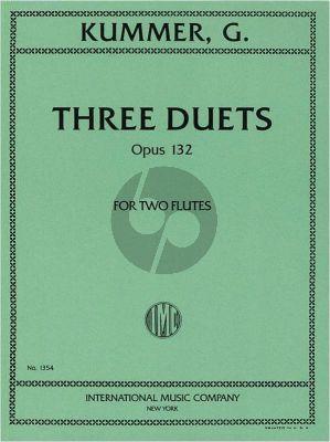 Kummer 3 Duets Op.132 2 Flutes