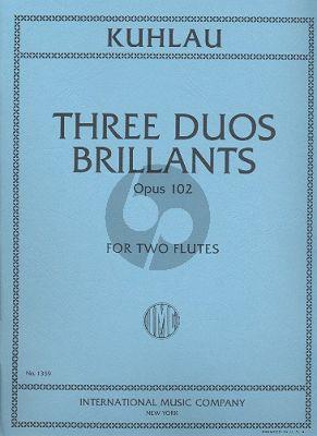 3 Duos Brillantes Op.102 2 Flutes