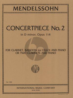 Mendelssohn Concertpiece No.2 D-minor Op.114 Clarinet-Bassoon (or Clarinet) and Piano (Eric Simon)