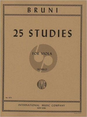 Bruni 25 Studies Viola (Schulz)