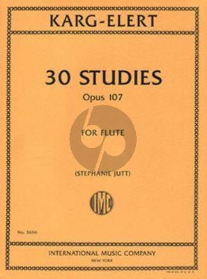 Karg-Elert 30 Studies Op.107 for Flute (edited by Stephanie Jutt)