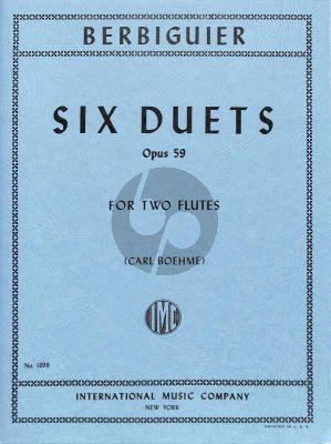6 Duets Op. 59 2 Flutes