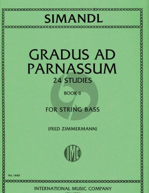 Simandl Gradus ad Parnassum - 24 Studies Vol.2 Double Bass (Fred Zimmerman)
