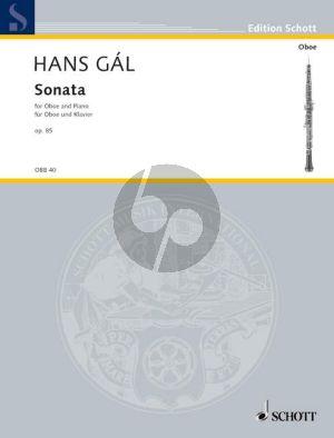 Gal Sonate Op.85 Oboe-Klavier