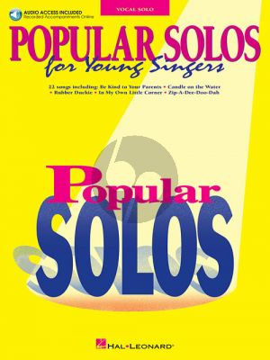 Popular Solos for Young Singers (Book with Audio online)