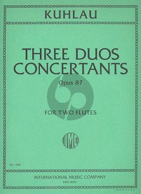 3 Grands Duos Concertantes Op.87 2 Flutes