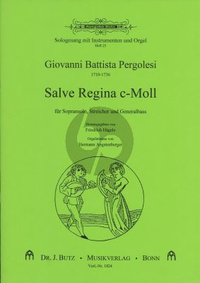 Pergolesi Salve Regina c-moll (Sopran-Streicher-Bc) (Partit./St.) (Hagele)