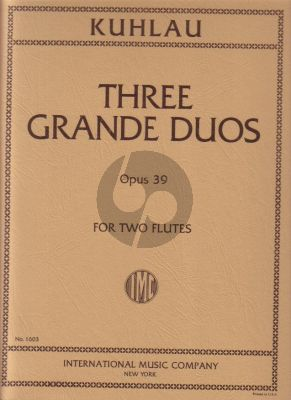 Kuhlau 3 Grande Duos Op. 39 2 Flutes